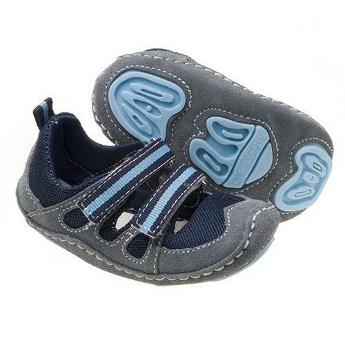 美國 Rileyroos 真皮手工鞋/學步鞋/童鞋/寶寶鞋/嬰兒鞋_達克它鞋海洋藍黑