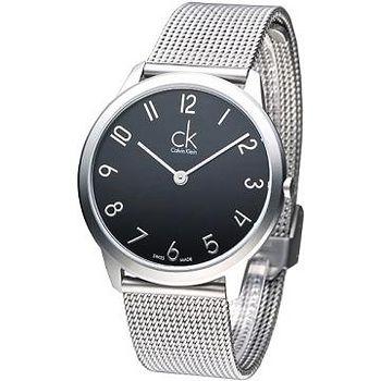 CK 優美風米蘭大表徑男錶- 黑