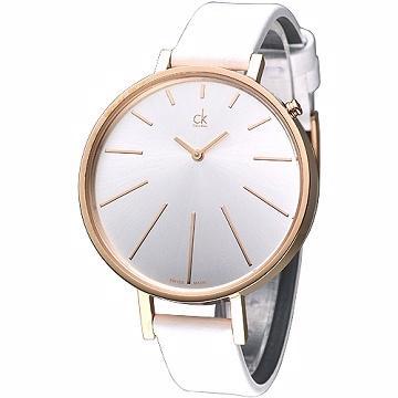 CK 完美簡約 名伶腕錶~ 玫瑰框