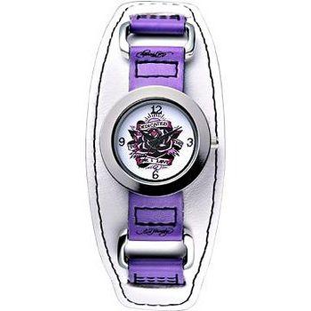 Ed Hardy 獻給我的愛玫瑰刺青錶 -皮帶