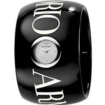ARMANI LOGO 印記時尚手環女錶 (字樣)