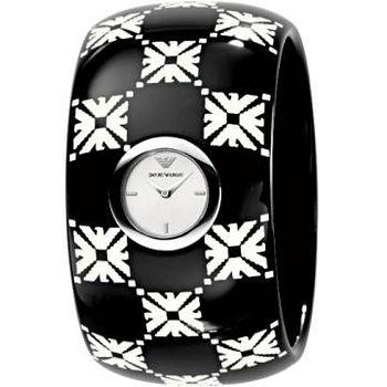 ARMANI 印記時尚手環女錶 (圖騰)