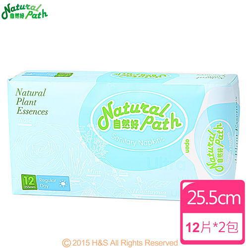 Natural Path自然好漢方草本衛生棉(日用型)(12片/包)2入組
