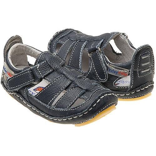 美國 Rileyroos 真皮手工鞋/學步鞋/童鞋/寶寶鞋/嬰兒鞋_卻西斯鞋 海軍藍