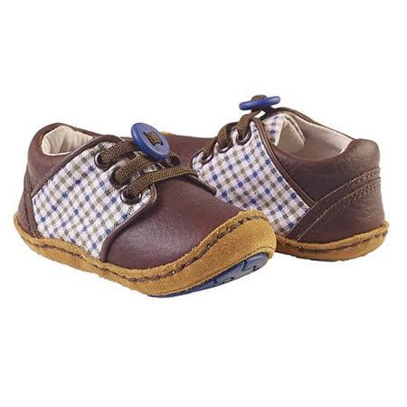 美國 Rileyroos 真皮手工鞋/學步鞋/童鞋/寶寶鞋/嬰兒鞋_棕色格子