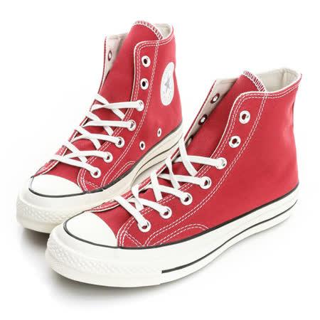 CONVERSE (男/女)Chuck Taylor 帆布鞋(高統)-紅-144754C