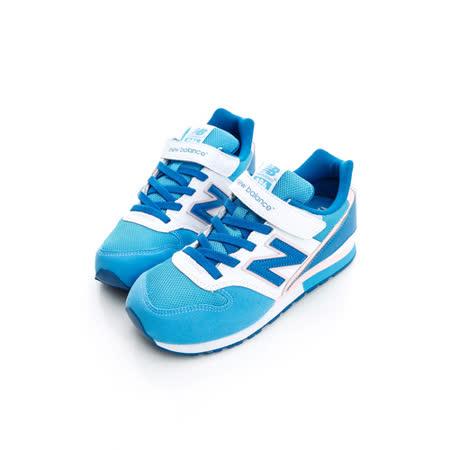 New Balance (童)996系列 復古慢跑鞋-藍-KV996BSY