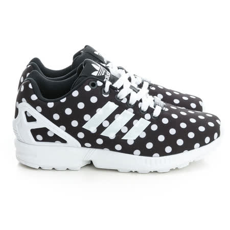 Adidas (女)ZX Flux W 經典復古鞋-黑白-S77312
