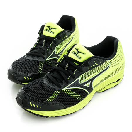 Mizuno 美津濃 (男)WAVE SAYONARA 3 慢跑鞋-螢光綠-J1GC153009
