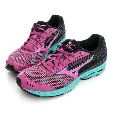 Mizuno 美津濃 (女)WAVE SAYONARA 3(W) 慢跑鞋-紫黑-J1GD153065