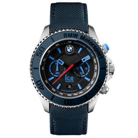 ICE-Watch BMW系列 經典限量款 兩眼計時腕錶-藍/53mm