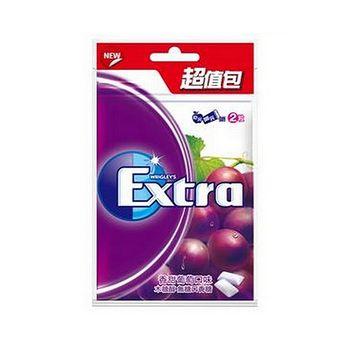 EXTRA口香糖超值包-香甜葡萄62g