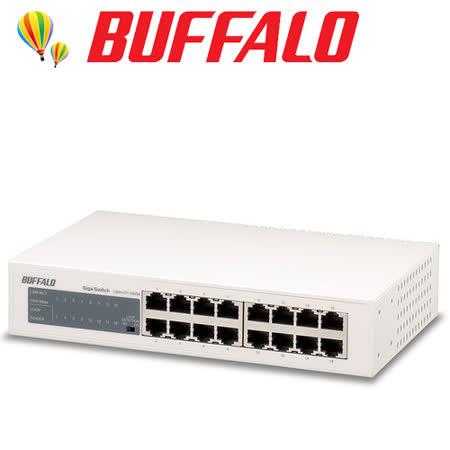 Buffalo LSW4-GT-16NSR 1000/100/10M 16埠交換器.