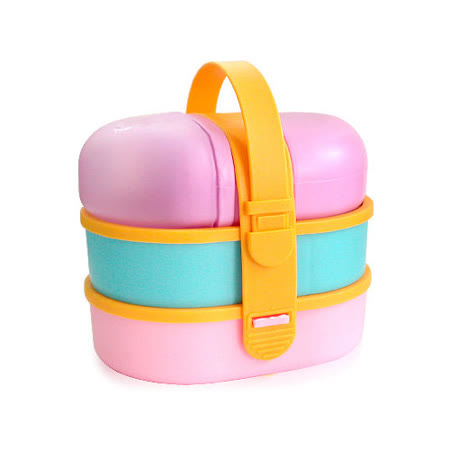 【iSFun】兒童專用*附小水壺三層便當盒