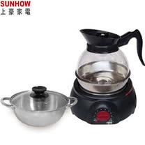 『SUNHOW 』☆ 上豪 1.8L 透明水壺泡茶壺+湯鍋組KR-1586