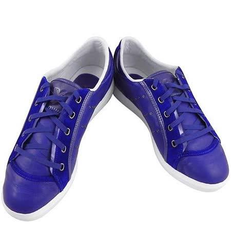 Y-3山本耀司 三線造型運動休閒鞋-深藍色【女款US 8.5號】