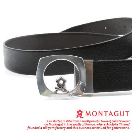 MONTAGUT夢特嬌-頭層牛皮寬版自動扣皮帶M815356