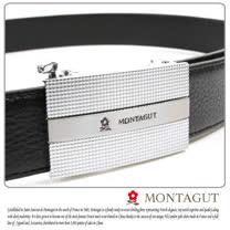 MONTAGUT夢特嬌-頭層牛皮 精品 自動扣皮帶845003