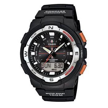 CASIO CASIO 戶外運動全新指針數位雙顯錶SGW-500系列 (黑)