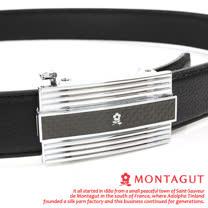 MONTAGUT夢特嬌-頭層牛皮紳士自動扣皮帶M80544F