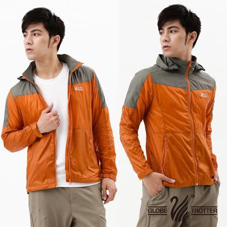 【遊遍天下】超薄抗UV防曬防風防潑水輕量配色外套A090墨綠/棕