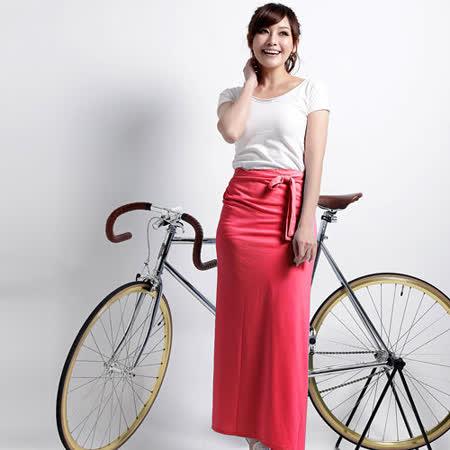 【遊遍天下】MIT涼感抗UV防曬吸排多功能一片裙117玫紅(加大尺碼)