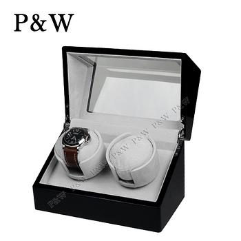 【P&W手錶自動上鍊盒】 【木質鋼琴烤漆】大錶專用 2只裝 四種模式 機械錶專用