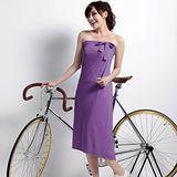 【遊遍天下】MIT涼感抗UV防曬吸排多功能一片裙117紫(加大尺碼)