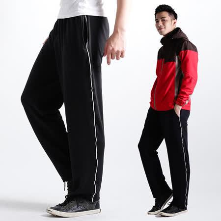 【遊遍天下】MIT台灣製中性款抗UV吸濕超涼爽速乾長褲P048黑色