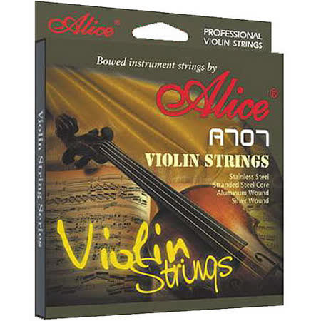 【美佳音樂】Alice A707 高級純銀纏線小提琴琴弦組-鋼絲繩型