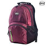 【GMT 挪威潮流品牌】專業電腦背包 酒紅 附15吋筆電夾層;登山包/雙肩背包
