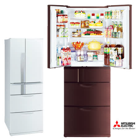 【MITSUBISHI 三菱】日本原裝525L六門變頻電冰箱(MR-JX53X)SMART CUBE,送好禮二選一