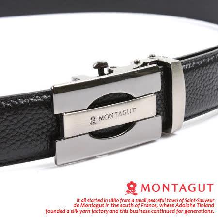 MONTAGUT夢特嬌-頭層牛皮 精品 自動扣皮帶75601F