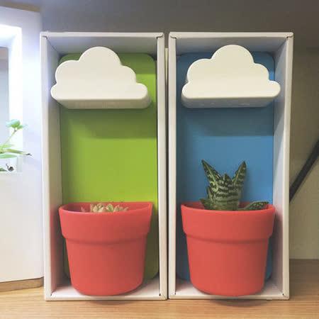 【PS Mall】可愛創意雲朵壁掛植物花盆-2入(J532)