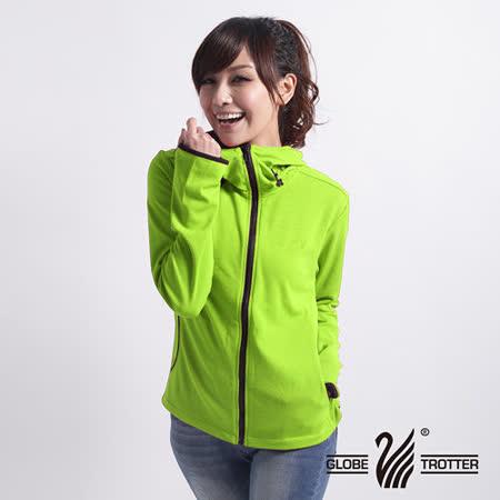 【遊遍天下】MIT台灣製女款抗UV速乾排汗外套112墨綠