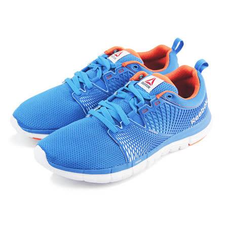 (男)REEBOK ZQUICK DASH 慢跑鞋 藍/橘-M49960