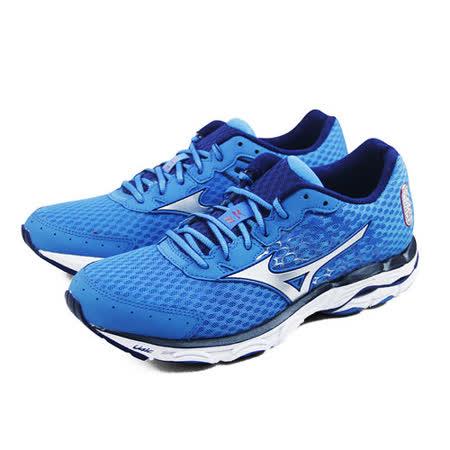(男)MIZUNO 美津濃 WAVE INSPIRE 11 慢跑鞋 藍-J1GC154403