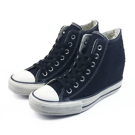 (W系列)CONVERSE Chuck Taylor All Star Lux 帆布鞋 黑/白-547190C