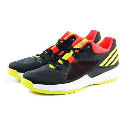 (男)ADIDAS CRAZY STRIKE LOW 籃球鞋 黑/螢光黃/亮橘紅-S83883