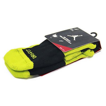 NIKE JORDAN DRI-FIT HIGH QUARTER 籃球中筒襪 黑/螢光綠-573788032