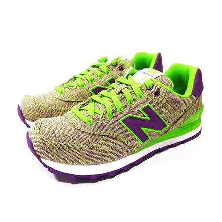(女)NEW BALANCE 復古鞋 螢光綠/紫-WL574GGP