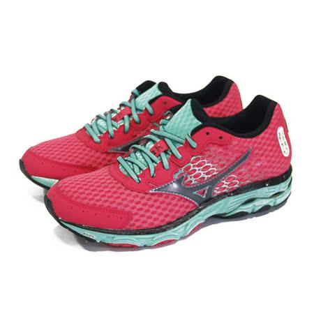 (女)MIZUNO美津濃 WAVE INSPIRE 11 慢跑鞋 桃紅/粉綠-J1GD154409