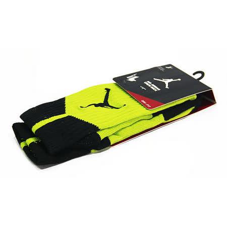 NIKE AIR JORDAN DRI-FIT CREW 籃球中筒襪 螢光綠/黑-530977301