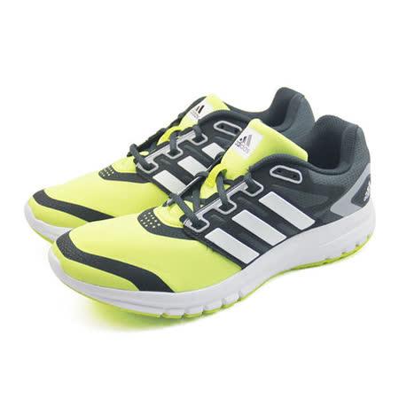 (男)ADIDAS BREVARD M 慢跑鞋 螢光綠/黑-B44469