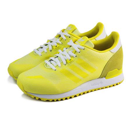 (女)ADIDAS ZX 700 WEAVE W 休閒鞋 檸檬黃-B35574