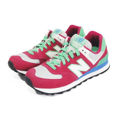(女)NEW BALANCE 復古鞋 桃紅/灰/蘋果綠-WL574CPV