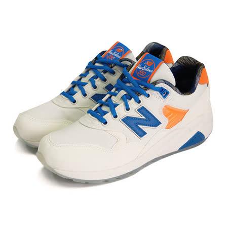 (男女)NEW BALANCE 復古鞋 米白/藍/橘-MRT580GG