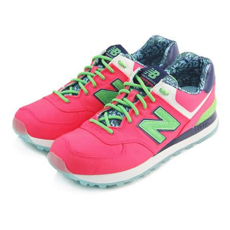 (女)NEW BALANCE 復古鞋 亮桃紅/綠-WL574ILC