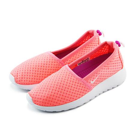 (女)NIKE WMNS NIKE ROSHE ONE SLIP 休閒鞋 粉橘紅/白-579826613