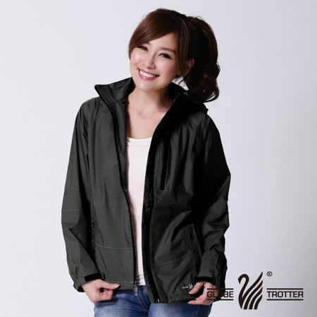 【遊遍天下】GlobeTex女款高透濕透氣防雨防風機能外套1220黑